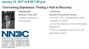University of Louisville to host public talk on depression on Jan. 12th