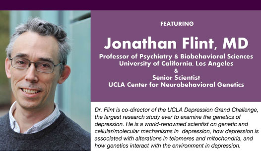 UCSF Depression Center to host public talk on depression, personality, and genetics